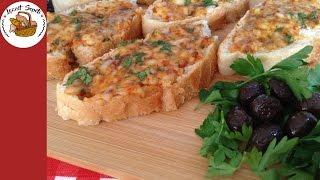 Peynirli kızarmış ekmek dilimleri tarifi | Ekmek pizzası nasıl yapılır