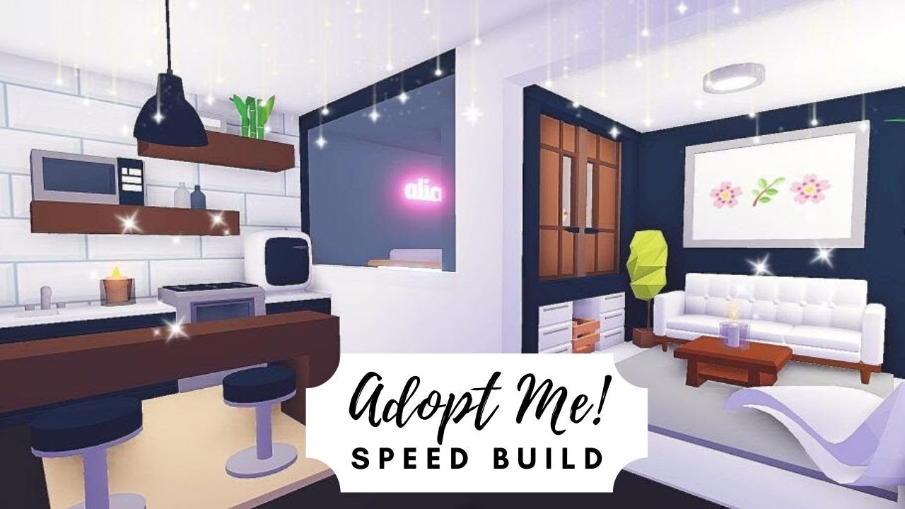 Tiny Modern Aesthetic House Speed Build Roblox Adopt Me Modern Tiny House Small Room Interior Tiny House Design