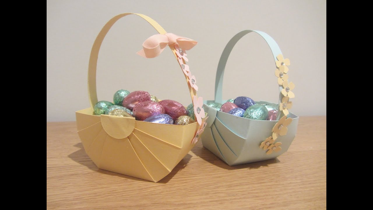 Papercraft Easter Basket Papercraft Tutoral