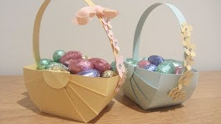 Easter Basket Papercraft Tutoral