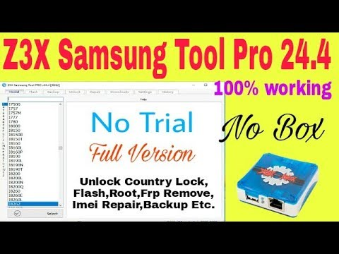 Z3X Samsung Tool Pro 24.4 | Latest Version | Without Box | Download | Installation