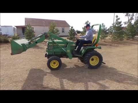1989 John Deere 855 MFWD tractor for sale   no-reserve Internet auction  December 6, 2017