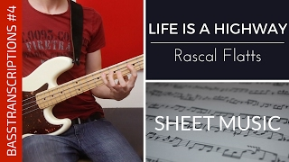 BASSTRANSCRIPTIONS | Life Is A Highway - Rascal Flatts