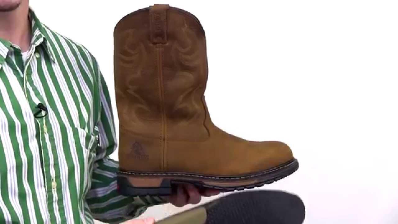 Rocky Original Ride Branson Roper Waterproof Western Boots Style ...