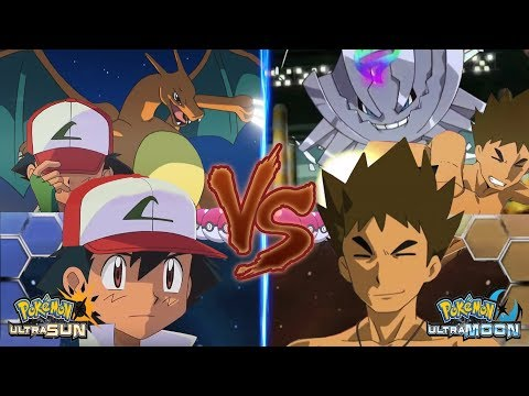 Pokemon Ultra Sun and Ultra Moon Kanto Ash Vs Brock (Brock Vs Ash)