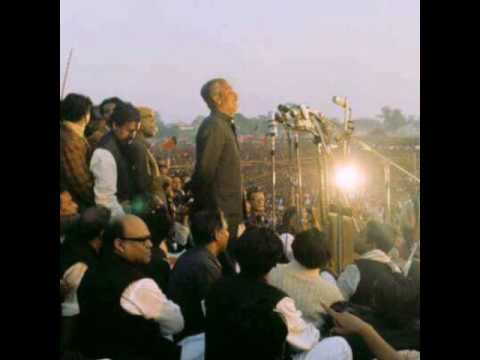 Bongobondhu's speech on 10th January 1972