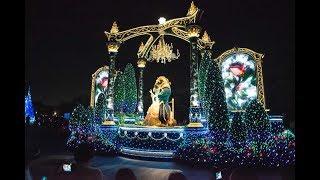 35周年の東京ディズニーランド、夜間パレードとコラボしました。曲は...