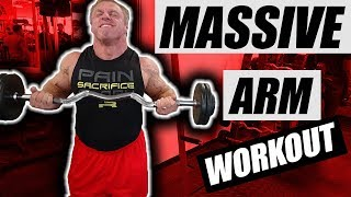 Get Massive Biceps & Triceps with this Arm Workout