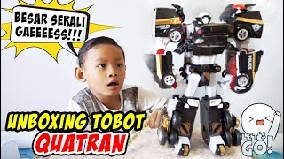 Unboxing Tobot Quatran Hitam, Gabungan Tobot C D R W | Tobot Quatran Bahasa Indonesia