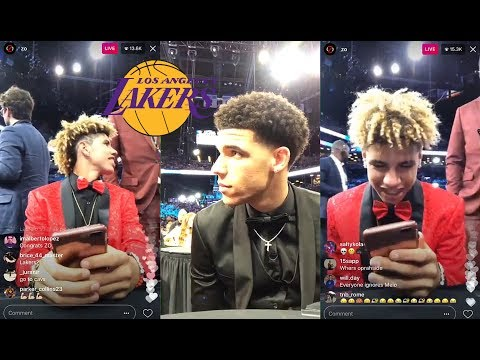 Lonzo Ball And Lamelo Ball Instagram Live Before Getting Drafted By Lakers At NBA Draft