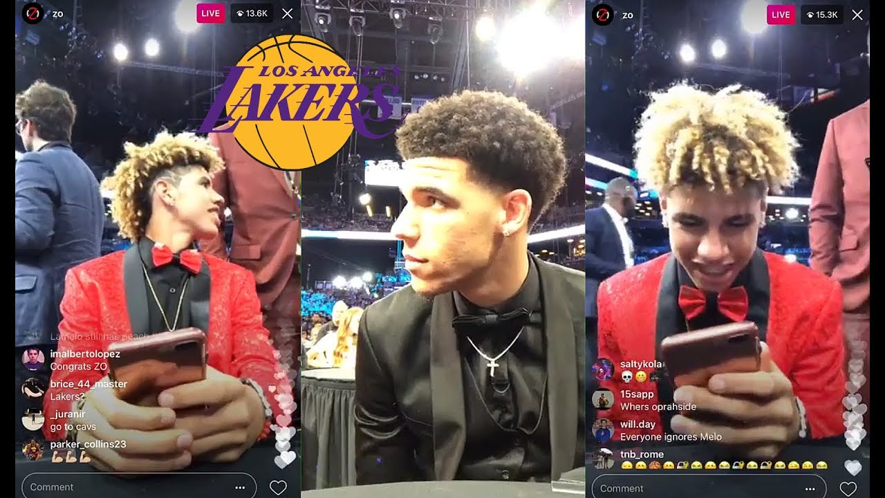 Lonzo Ball And Lamelo Ball Instagram Live Before Getting