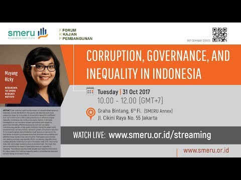 Corruption, Governance, and Inequality in Indonesia