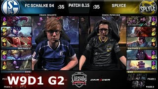 FC Schalke 04 vs Splyce | Week 9 Day 1 S8 EU LCS Summer 2018 | S04 vs SPY W9D1