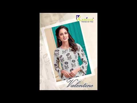 Valentine Karissa Kurtis Plazzo Set    Manufacturer Wholesaler Ahmedabad Surat