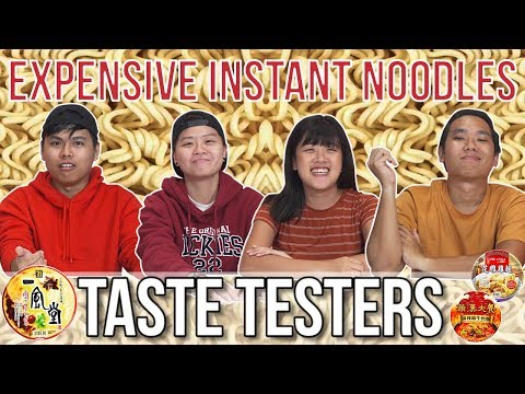 EXPENSIVE INSTANT NOODLES | Taste Testers | EP 77