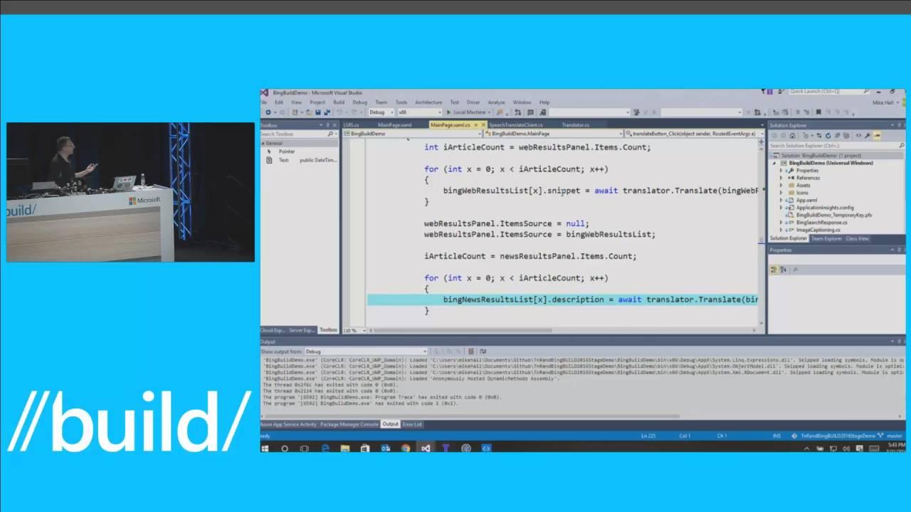 //build/ 2016: Adding Microsoft Translator's new speech API to an app
