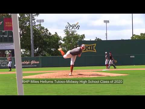 RHP Miles Hellums Tuloso Midway High School Class of 2020