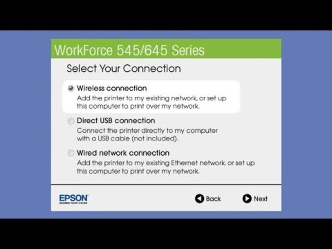 Epson WorkForce 545 WF-645 | Wireless Setup Using the Printer's Buttons from YouTube · Duration:  3 minutes 51 seconds