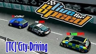 LFS 0.6E: TC City Driving CHASE em Kyoto