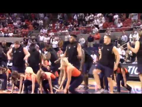 Auburn Football Players Dance With Tiger Paws
