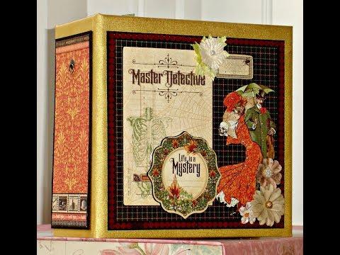 Master Detective Hallowe'en Handmade Photo/Memory Album