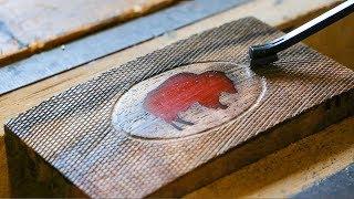 Making A Belt Buckle From Texas Walnut