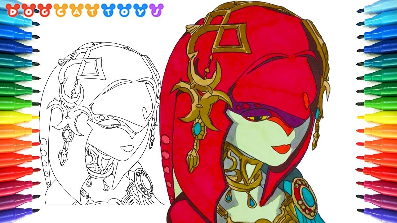 How To Draw Legend Of Zelda Breath Of The Wild Mipha 168