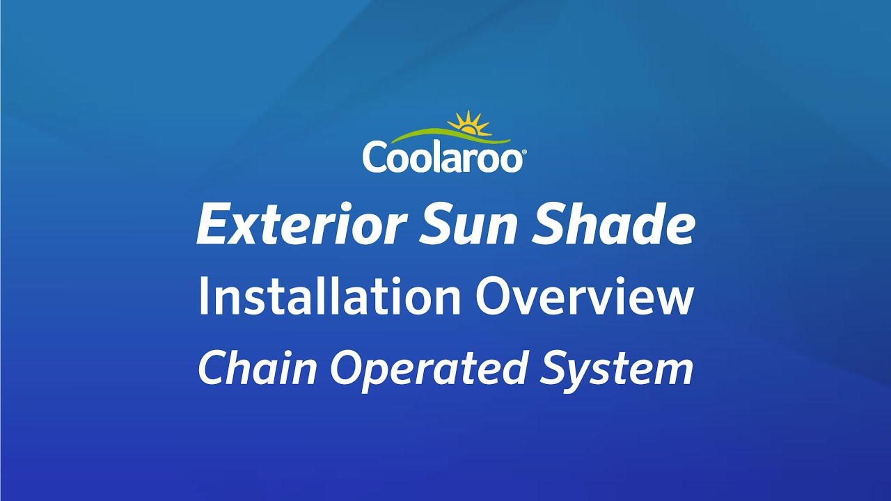 Coolaroo Exterior Sun Shade Installation Overview - YouTube for Window Coverings Outside  146hul