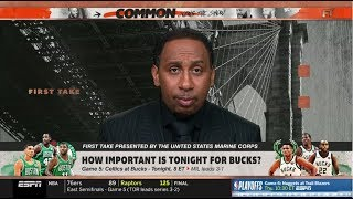 ESPN FIRST TAKE | Game 5: Celtics at Bucks - Tonight; How important is tonight for Bucks?