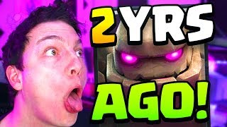 This GOLEM Deck worked 2 YEARS AGO in Clash Royale...??