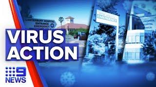 Coronavirus: Schools and hospitals take drastic disease action | Nine News Australia