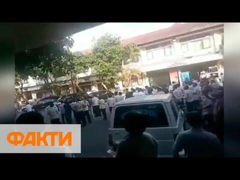 Небольшая паника и поврежденные здания - землетрясение на Бали