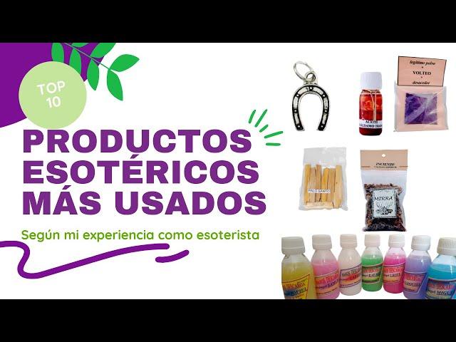 Productos esotéricos más vendidos