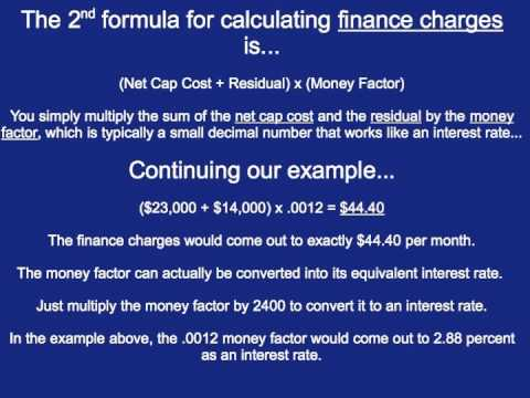 How to Calculate Car Lease Payments - YouTube