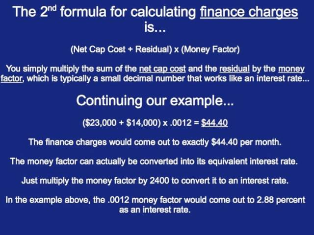 Money Factor Calculator >> How To Calculate A Lease Payment 12 Steps With Pictures