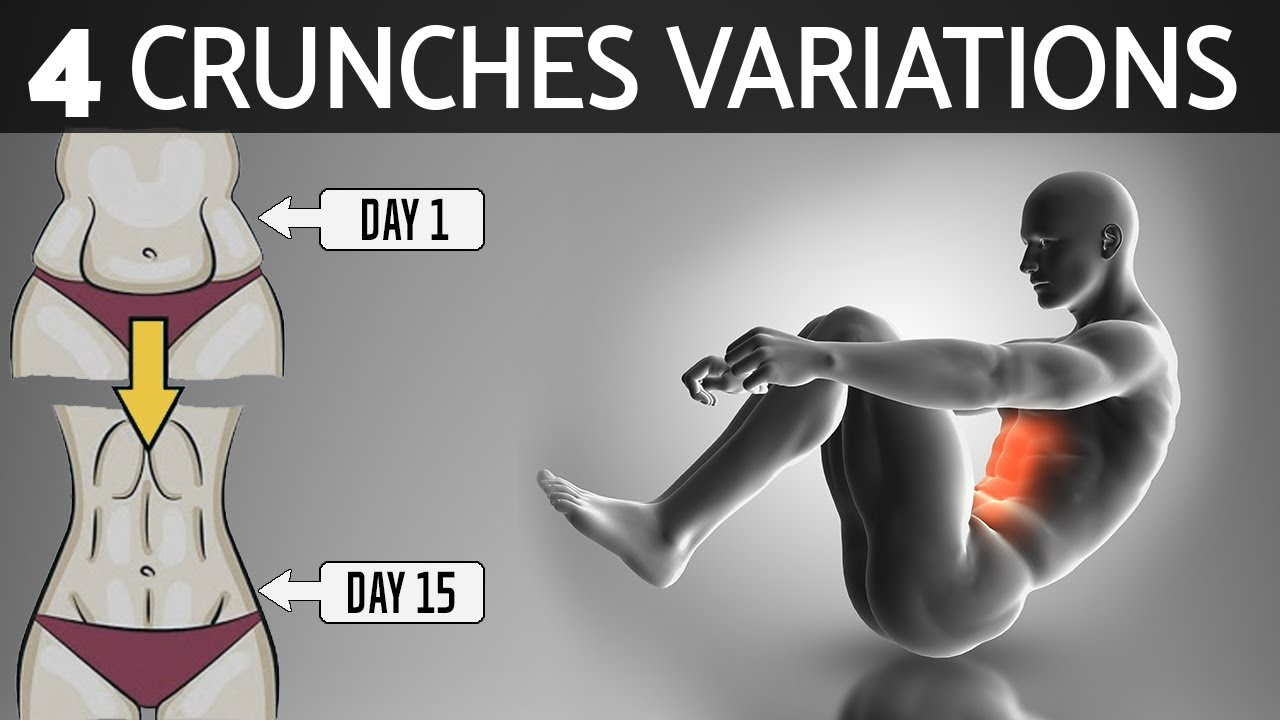 Download 4 Variations Crunches for Flat Stomach Workout in 7 Days | How to Lose Your Belly Fat Exercises