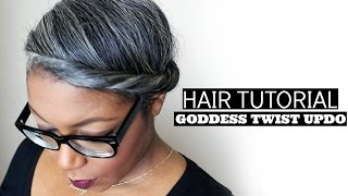 Hair Tutorial for Natural Hair: Goddess Twist Updo Thumbnail