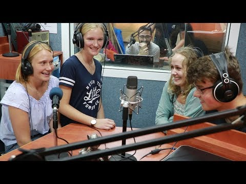 A delegation of students from Germany visiting  bgfm radio station