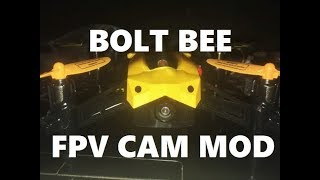 Holy Stone Bolt Bee CAMERA MOD 5.8 inside test flight review