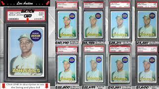 MINT! 1969 Reggie Jackson Rookie Card Topps 260 PSA 9
