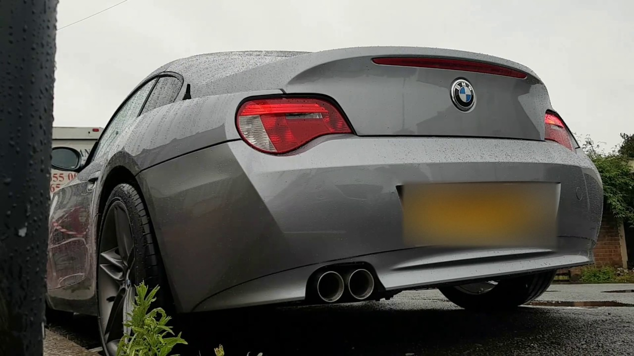 BMW Z4 Coupe exhaust  YouTube
