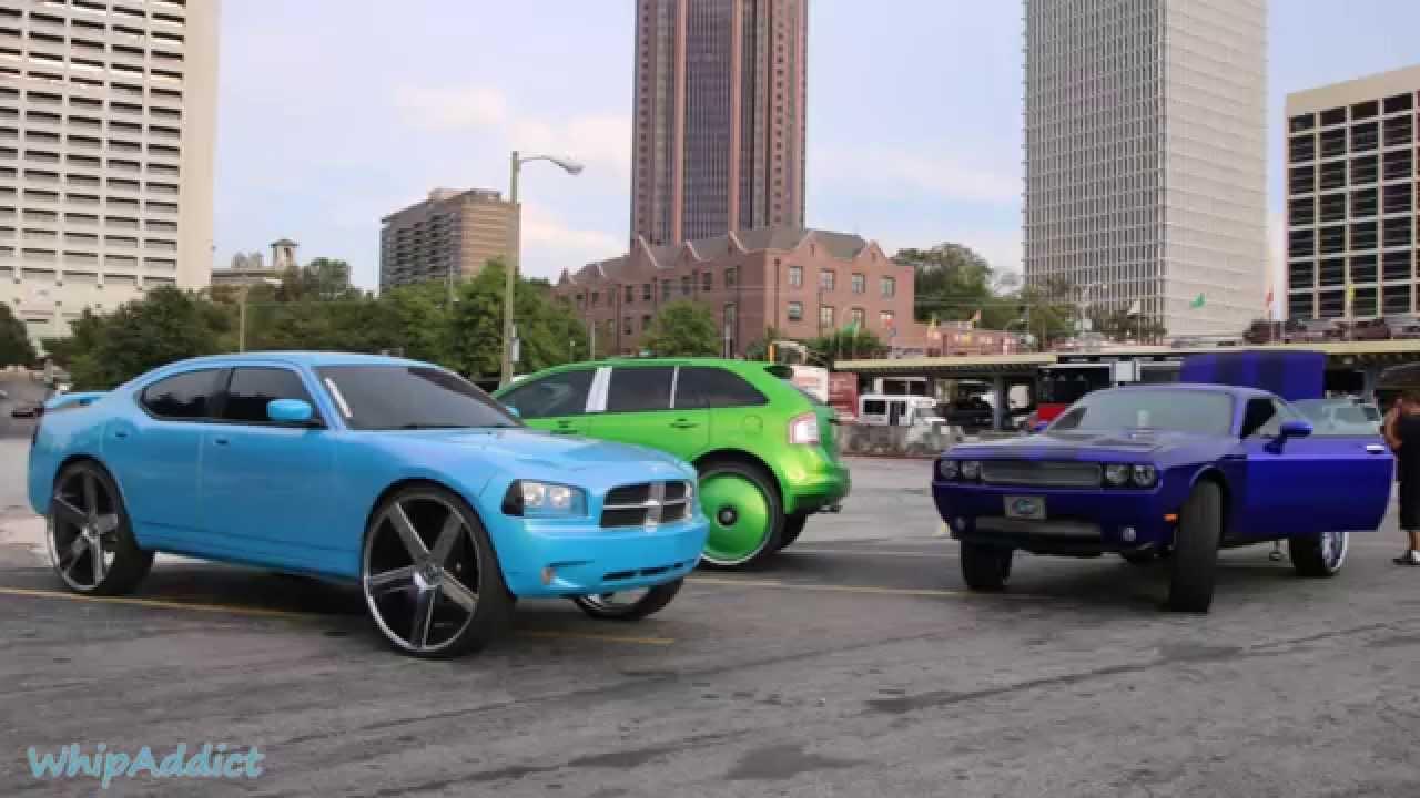 Whipaddict Dodge Charger On Dub Baller 30s Dodge Challenger On 30s Ford Edge On 30s Atlanta Ga