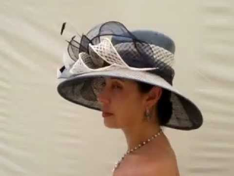 Amazing wedding hats ladies hats ascot hats baysdale navy blue - YouTube 586c7ec3821
