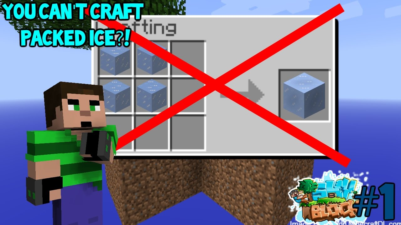 Skyblock 1 You Can T Craft Packed Ice Youtube Boats on blue ice aren't slowed down by friction support this channel: skyblock 1 you can t craft packed ice