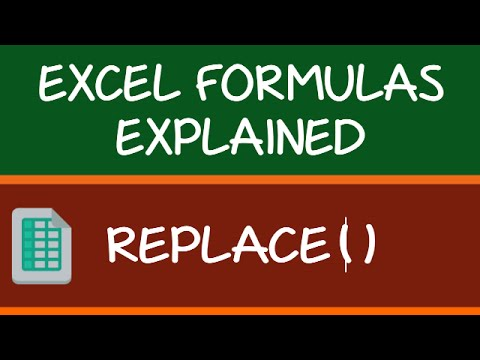 REPLACE Formula in Excel