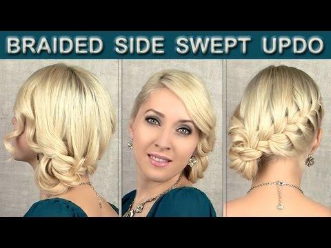 Braided updo tutorial: prom wedding hairstyle for medium ...