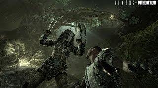 Aliens V.S. Predator Walkthrough Part Four: Ruins! (Predator Boss Fight)
