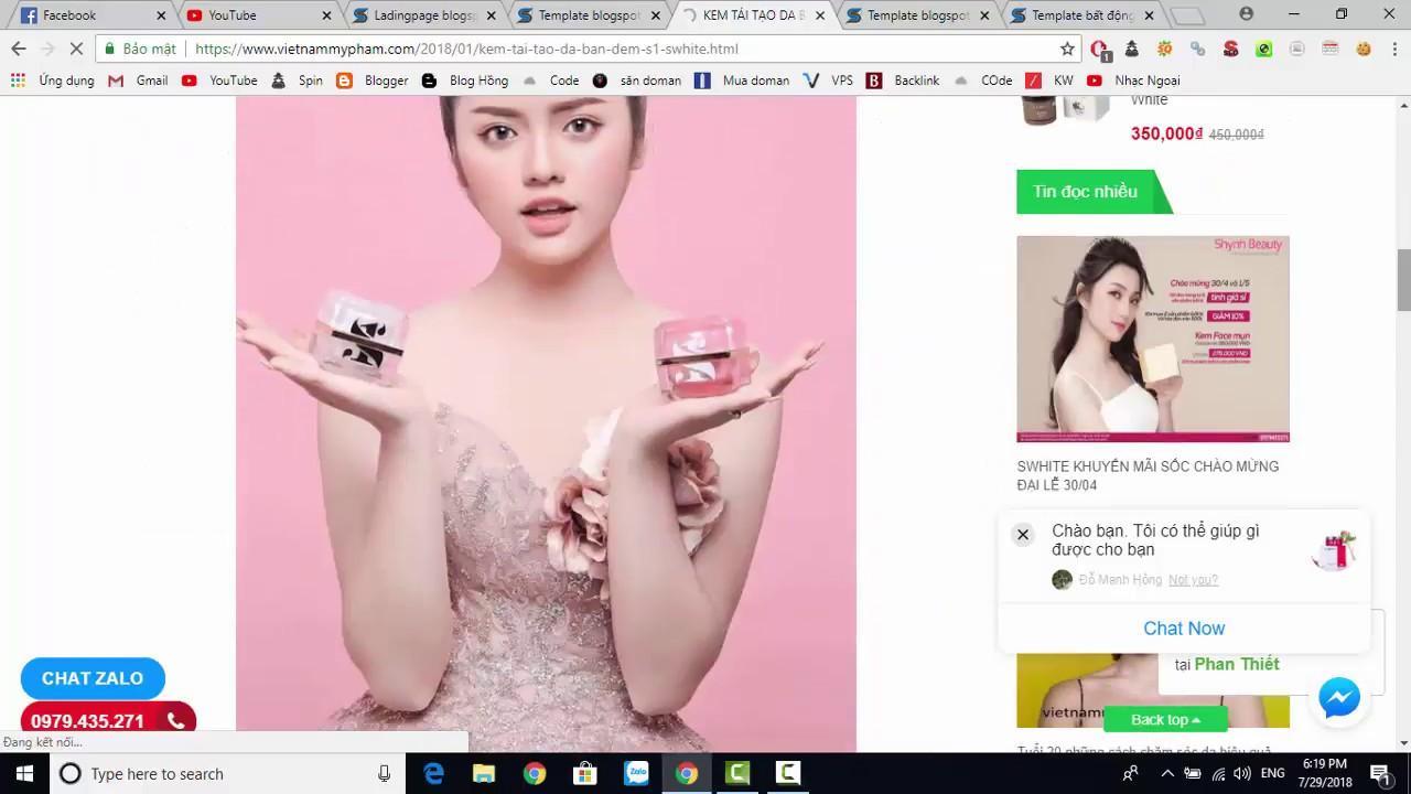 Template blogspot bán hàng mỹ phẩm cực đẹp [STYLE 1]