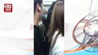 """地铁四号线遇""""顶族"""" 网友跟拍震慑猥琐男"""