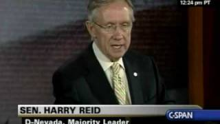 Sen. Harry Reid Press Conference 10/26/09